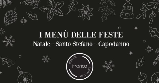 menu festività franco ristorante