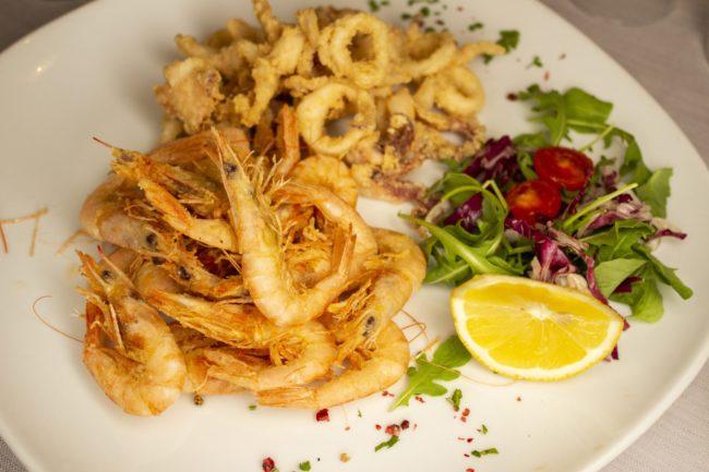 frittura pesce menu fisso